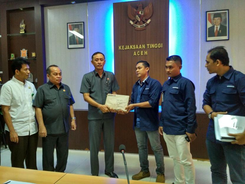 GeRAK Lapor ke Kejati Aceh terkait dugaan penyelewengan dana untuk eks GAM