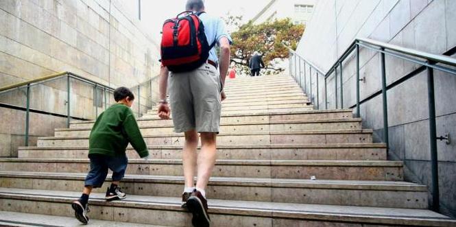 berjalan naik tangga