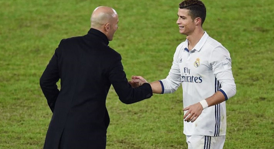Zinedine Zidane dan Cristiano Ronaldo