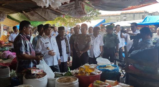 Bupati dan Wabup Aceh Besar Tinjau Pasar