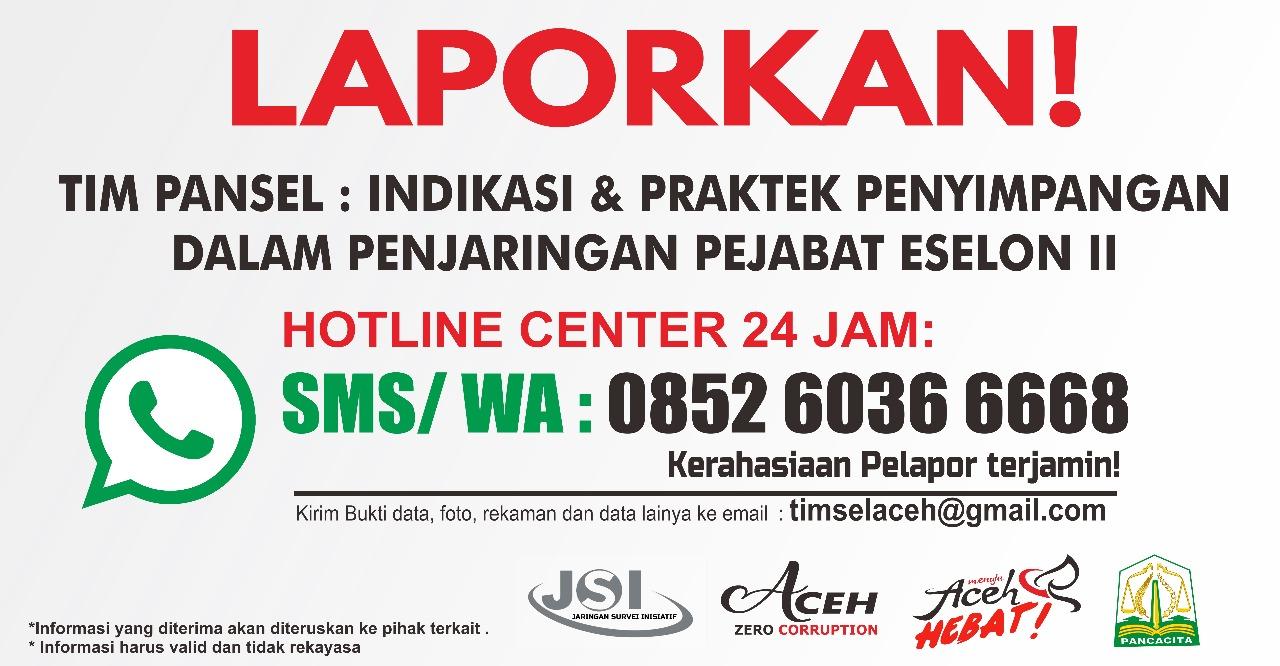 Jsi Buka Sms Center Penjaringan Pejabat Eselon Ii Media Aceh