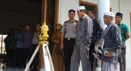 Pemerintah Kabupaten Aceh Besar Tuntaskan Arah Kiblat Masjid Lamrabo