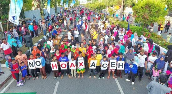 Kampanyekan 'Aceh No Hoax' Bersama Warga