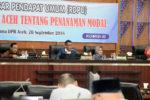 Gelar RDPU Rancangan Qanun Aceh Tentang Penanaman Modal