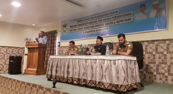 Buka Pelatihan Penguatan Kelembagaan Mukim