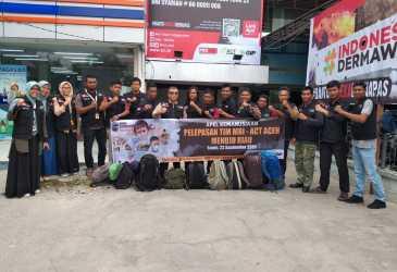 ACT Aceh – MRI Berangkatkan Relawan ke Riau