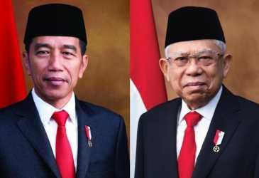 Setneg Rilis Foto Resmi Jokowi dan Ma'ruf Amin