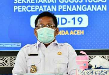 Aminullah Keluarkan Perwal Wajib Pakai Masker di Banda Aceh