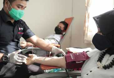 ASN Setda Aceh Lakukan Aksi Donor Darah