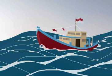Ditabrak Kapal Tanker di Selat Malaka