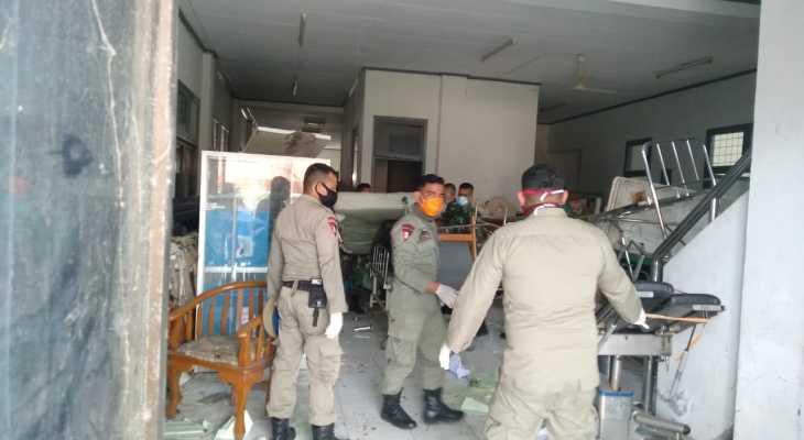 Personel Gabungan Bersihkan RSUDZA