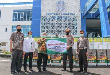 Bank Aceh Syariah Salurkan Bantuan Wastafel Portable