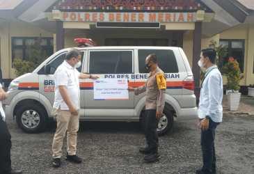Polres Bener Meriah Terima Mobil Ambulance dari Bank BRI