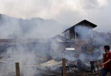 Tujuh Rumah di Lamno Terbakar