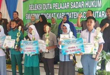 Enam Siswa di Aceh Utara Raih Juara Pemilihan Duta Pelajar Sadar Hukum