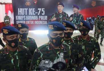 Polda Aceh Gelar Upacara HUT ke-75 Korps Brimob Secara Virtual