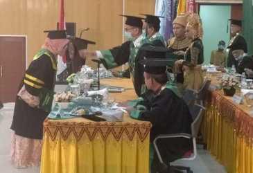 Sebanyak 204 Sarjana Unmuha Aceh Mengikuti Wisuda Secara Daring