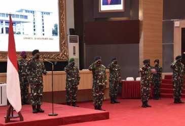 Panglima TNI Naikkan Pangkat 11 Perwira Tinggi, Termasuk Sesmilpres
