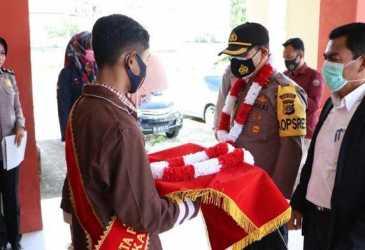 Rafli dan Rasya, Siswa SMAN 1 Meuredu Duta Kamtibmas Pidie Jaya, Ini Harapan Kapolres