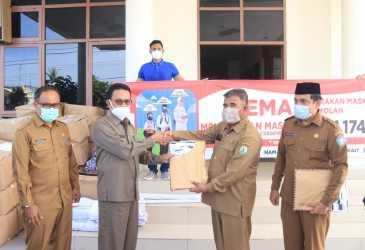 Pemkab Aceh Selatan Terima Ribuan Masker
