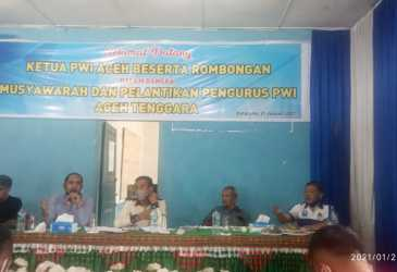 Bulkaini Jabat Plt Ketua PWI Aceh Tenggara