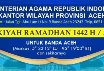 Kemenag Aceh Terbitkan Imsakiyah