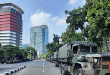 Gedung KPK Dijaga Ketat TNI-Polri