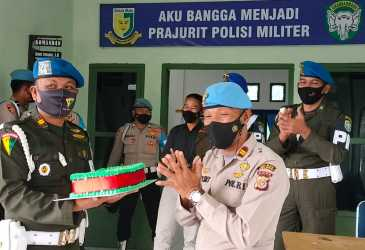 Datangi Markas Polisi Militer
