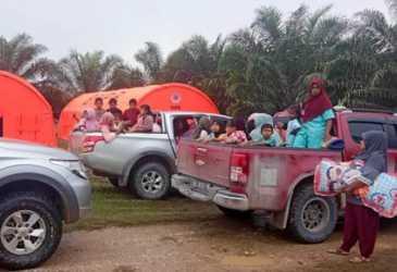 Pengungsi Gas Beracun di Aceh Timur Kembali ke Rumah