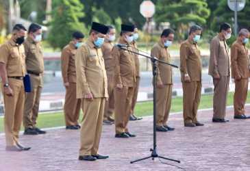 Apel Pagi Kembali Digelar di Kantor Gubernur Aceh
