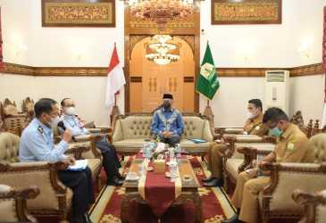 Gubernur Terima Audiensi Kakanwil Kemenkumham Aceh