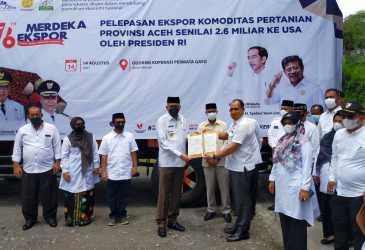 Gubernur Aceh Lepas Kopi Arabika Senilai Rp2,6 Milyar ke Luar Negeri