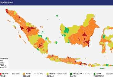 Banda Aceh Satu-satunya Kota di Indonesia Berstatus Zona Merah COVID-19