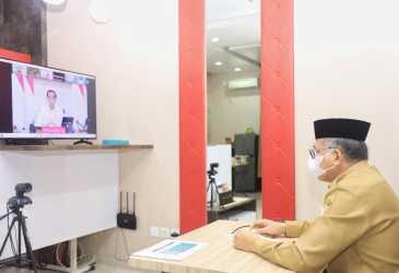 Paparkan Capaian Vaksinasi Aceh Kepada Presiden Jokowi