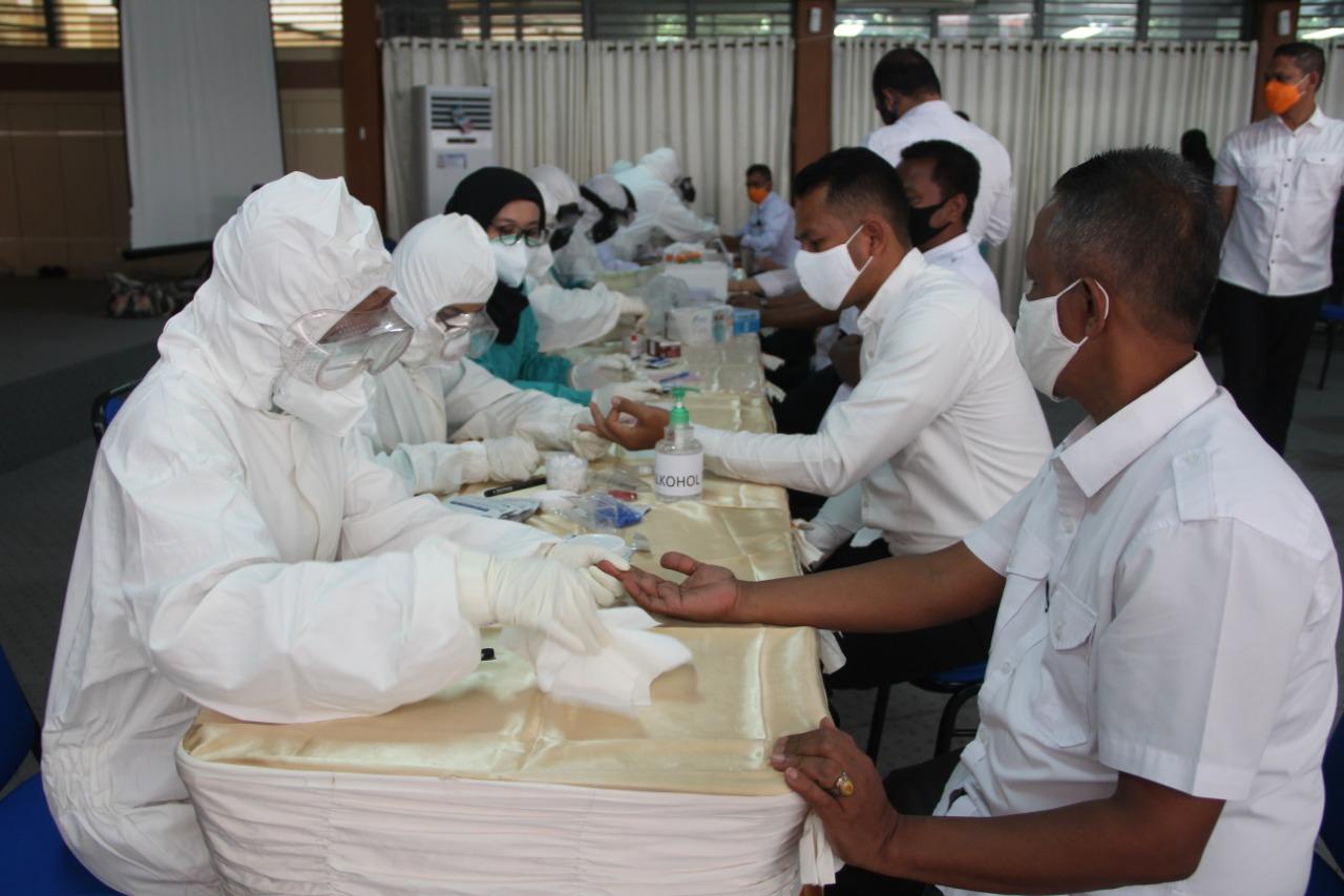 BPBA Gelar Rapid Test Pegawai dan Mitra Kerja