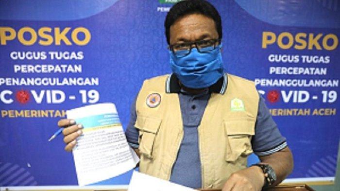 UPDATE Covid-19 Aceh - Warga yang Terpapar Positif Capai 8.282 Orang, Kasus Konfirmasi Baru 17 Orang