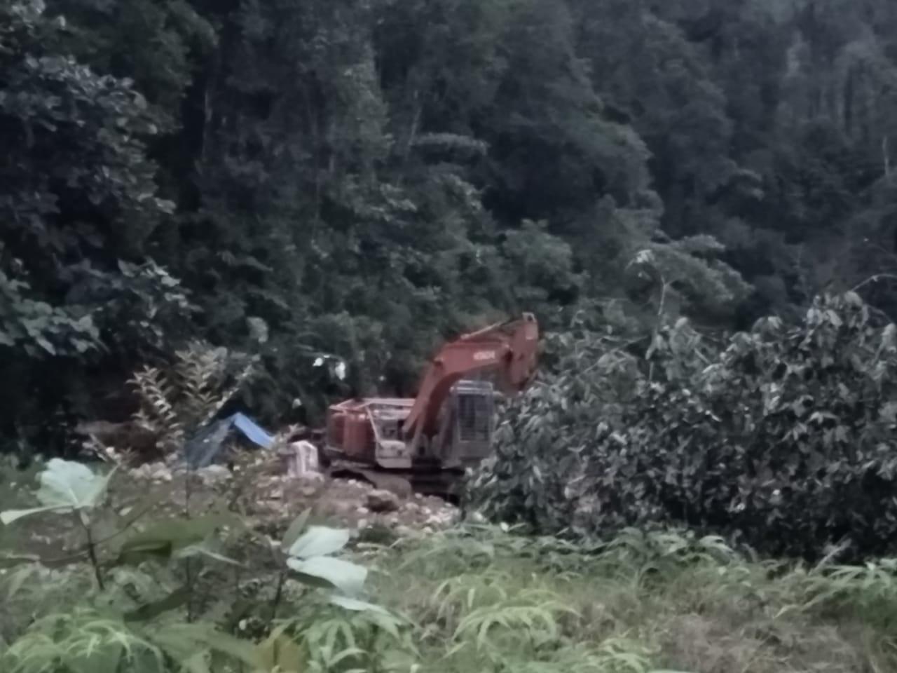 Tangkap Penambang Emas Ilegal di Geumpang