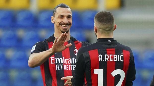 Ibrahimovic di Parma vs Milan